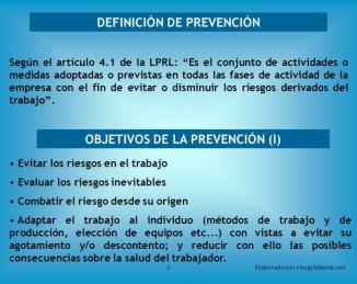 Definición de Prevención de Riesgos
